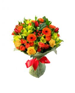 bright bouquet for a girl