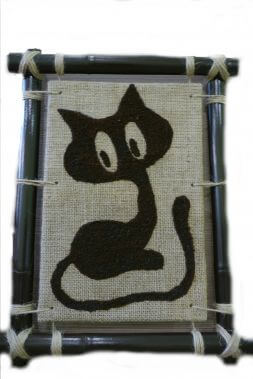 original souvenir panel with a cat