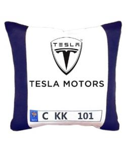 pillow with car number plate
