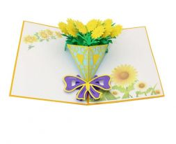 card with yellow bouquet