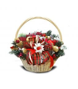 New Year sweet basket