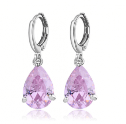 earrings with pink stone