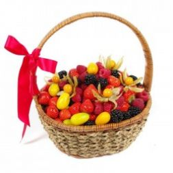 gift basket big with different berries