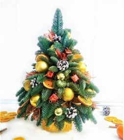 Christmas tree in the gold gamut 55 cm