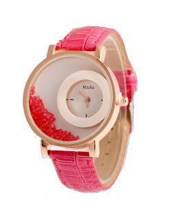 ladies watch with pink watchband CO 017