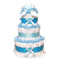 Cake made of diapers