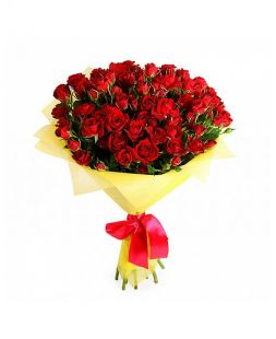 Bouquet red spray roses