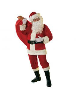 Courier in Santa Claus costume