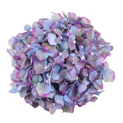 bouquet of purple artificial hydrangeas