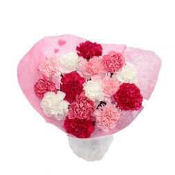 pink bouquet of carnations