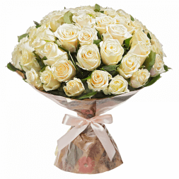 elite bouquet of white roses
