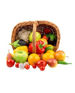 Basket of fruits and vegetables 2