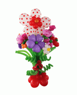 bouquet of flowers from balloons