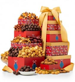 gift tower with chocolate