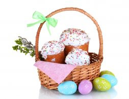 basket with Easter cakes