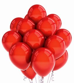 Red balloons with delivery
