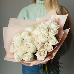 "bouquet of roses ""White angel"""