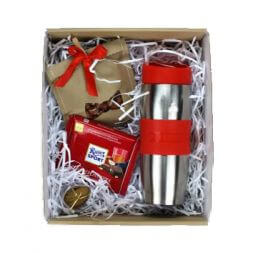 gift set with thermo cup