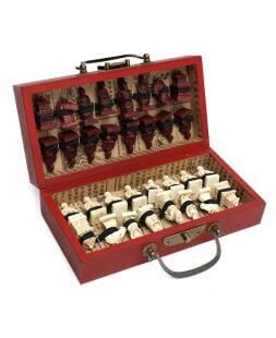 set of wooden chess