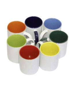 Mugs color inside