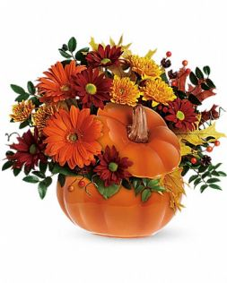 Bouquet in a pumpkin