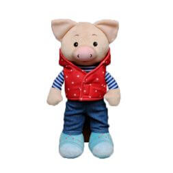 Pig in clothes 35 cm