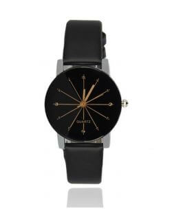 ladies watch with black watchband CO 012