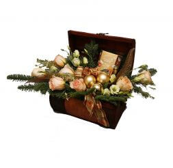 "Bouquet in a box ""Christmas surprise"""