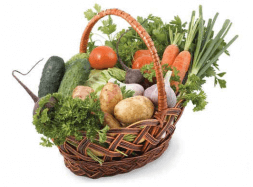Basket with vegetables '' Salad ''