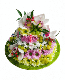 cake of flowers Children's delight