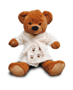 Bear in bathrobe 45cm