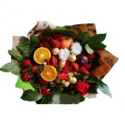Bouquet of chocolates and fruits '' Passion ''