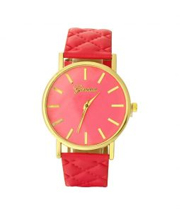 women watch with red watchband CO 001
