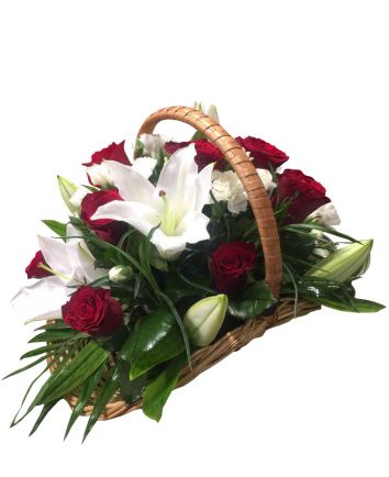 Roses and Lilies Basket