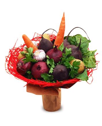 Как сделать букет из овощей своими руками 22