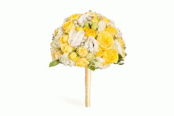 Cumpără Buchet De Mireasa De Flori Galbene Albe în сhișinău Moldova
