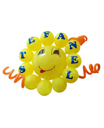 "Balloons ""Sun"" with Name"
