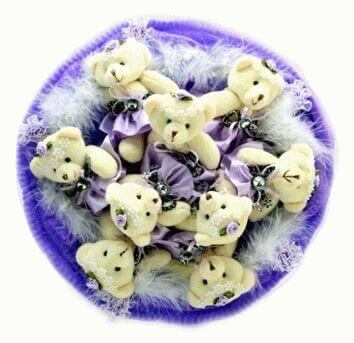 Bouquet made of teddy bears